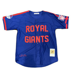 Negro League BROOKLYN ROYAL GIANTS Jersey Classic #42 Size Large (NY METS Style)