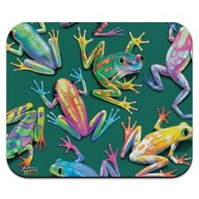 Rainforest Tree Frogs Rainbow Sticky Fingers Low Profile Thin Mouse Pad Mousepad