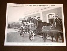 Lisbona nel 1908 Stazione Villa Viceosa Duca degli Abruzzi col Re del Portogallo