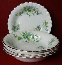 ROYAL STAFFORD England COQUETTE pattern Fruit Bowl - Set of Four (4) 5-1/4""