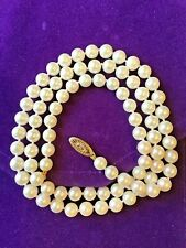 """AKOYA PEARL NECKLACE JC PENNEY APPROXIMATELY 5.5 mm AND 22"""" + LONG 14K CLASP"""