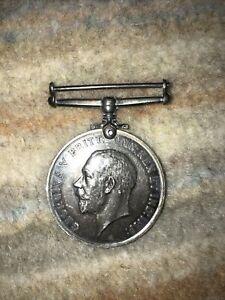 Collectable memorabilia WWI British War Silver Medal 1914-1918 George V