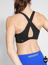 NWT Athleta Be Bold Wrap Front Bra, Black SIZE M              #776971  v816/1031