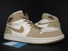 2008 Nike Air Jordan I Retro 1 OG MILITARY ARMED FORCES PEARL WHITE HAY WALNUT