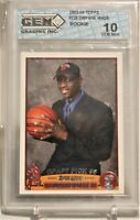 Dwayne Wade 2003-04 Topps Draft Pick Rookie RC Card Miami Heat #225 GEM MINT 10