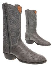 EL DORADO Cowboy Boots 9 EE Mens Exotic Full Quill Ostrich Leather Western Boots
