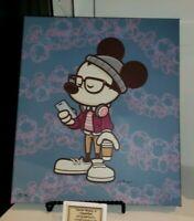 Epcot Festival Of Arts Disney Hipster Mickey of Tomorrow Maruyama LE Canvas Wrap