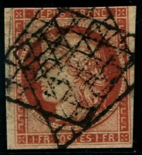 Lot N°141b France N°7 1F Vermillon Oblitéré Qualité ST