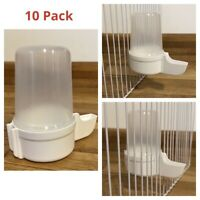 10 x 140cc Cage Bird Water Drinker /Feeder Finch Canary Budgie Aviary Clear