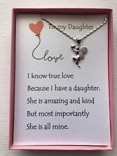 Love heart necklace w/ love poem for your daughter.