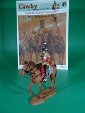 Del Prado Cavalry Napoleonic War, Officer, British Dragoons  (#49) w/Osprey Book