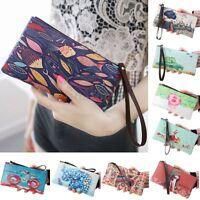 Women Ladies Purse Zip Wallet Mobile phone Bag Long Card Coin Handbag Clutch