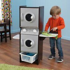 Kidkraft 63283 Kids Espresso Laundry Pretend Play Set Washer & Dryer NEW