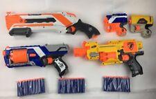 NERF ELITE N-STRIKE STRONGARM BARRICADE RV-10 ROUGHCUT REFLEX IX-1 GUN BUNDLE