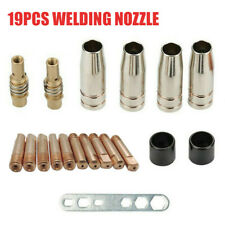 19pcs M6 Torch Welder Contact Tips Gas Nozzle For MIG/MAG MB-15AK