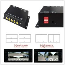 360° 4-Way Car Parking View Camera Recorder VCR Image Split-Screen Control Box