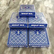 Absolut Vodka Playing Cards, 5 DECK DEAL! Original, Unopened, (RARE) Promo Item