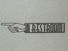 "Large 24"" RESTROOM LEFT POINTING FINGER Laser Cutout Wall SIGN"