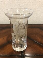 Rosenthal Studio Line Glass Bud Vase Germany Gold Butterfly 4.25""