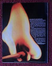 1971 Print Ad MARANTZ Model 19 Stereo Receiver ~ Match & Flame We Sound Better