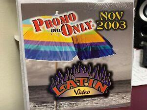 PROMO ONLY LATIN DVD NOVEMBER 2003 VIDEO SERIES NEW