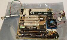 TESTED Biostar MB-8500TTD motherboard + AMD K6 200MHz CPU + RAM - Socket 7 ISA