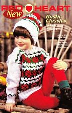 Red Heart RUSTIC CLASSICS to Knit & Crochet Sweater Hat Afghan & More 1998
