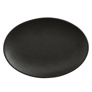 Maxwell & Williams 35cmx25cm Caviar Oval Serving/Tableware/Dinnerware Plate BLK