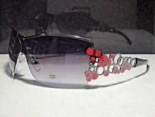"Womens Red DG Designer ""Bubble"" Sunglasses Rare 100% UV Metal Fashion Eyewear"