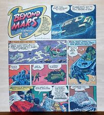 Beyond Mars by Jack Williamson - scarce full tab Sunday comic page Jan. 24, 1954