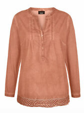NEW Paola Pure Cotton Tunic  Long sleeved Copper size 16/18 - 22/24