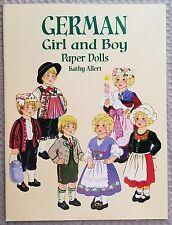 GERMAN GIRL AND BOY PAPER DOLLS Book, 1999 Kathy Allert, UNCUT