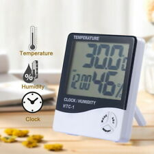 Digital LCD Temperature Humidity Meter Indoor Thermometer Hygrometer Alarm Clock