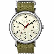 Timex T2N651, Men's Weekender Olive Fabric Watch, Indiglo, T2N6519J