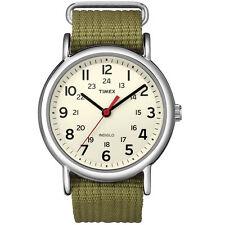 Timex T2N651, Men's Weekender Olive Fabric Watch, Indiglo, T2N6519J