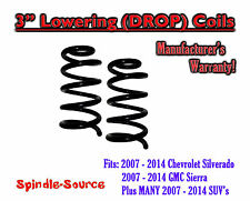 "2007 - 2018 Silverado Sierra 1500 V8 3"" Lowering Drop Coils Springs Kit"