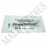 T001-100 Sterilized Body Piercing Hollow Needles 20G Gauge 0.8mm 100pcs