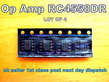 OP_AMP Dual, general purpose RC4558D  Texas Instruments ****Lot of 4****