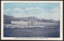 Postcard CALDWELL Ohio/OH  Cleveland Graphite & Bronze Factory/Plant 1950's