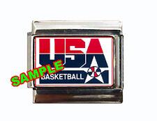 USA Basketball Logo Custom Italian Charm Olympics