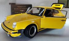 Voitures, camions et fourgons miniatures jaunes en métal blanc pour Porsche