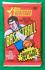2001-02 Topps Heritage NBA Basketball Trading Cards Sealed Pack