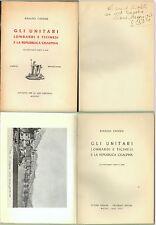 RISORGIMENTO-GLI UNITARI LOMBARDI E TICINESI E LA REPUBBLICA CISALPINA-1945