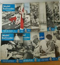 Lot of 10 Model Railroader Magazines  1948, 1949 & 1950