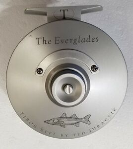 NEW TIBOR EVERGLADES IN FROST SILVER WITH SNOOK ENGRAVING #7-9 WT FLY REEL