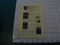 orig. Sci Fi paper(s) picked up at BOSKONE 35 in 1998: NESFA press Catalog 16pgs