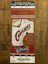 LeBron James 1st Career 30 Point Game Cleveland Cavs Full Ticket