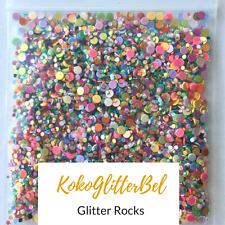 Glitter Rocks Mix Holographic Iridescent Chunky | 1 TSP |  Acrylic Gel Nail Art