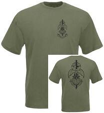 T-SHIRT verde militare 185° RRAO COMFOSE  stampa fronte retro folgore