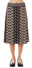 BRAND NEW MAX STUDIO FOR JOHN LEWIS DEVORE A-LINE SKIRT SIZE XS TAUPE/BLACK